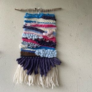 Handmade bright wall hanging